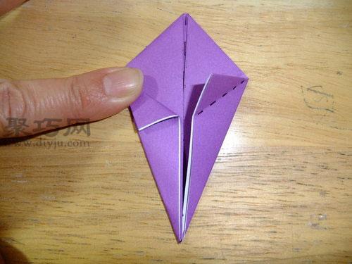 折纸立体兔子步骤2