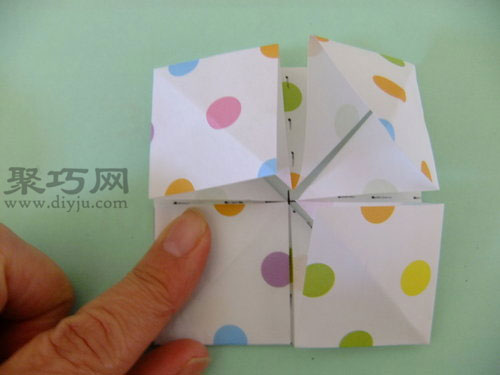 立体花球折纸图解教程