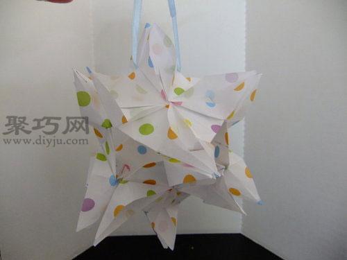 手工折纸制作:[40]一起折:花瓣花球