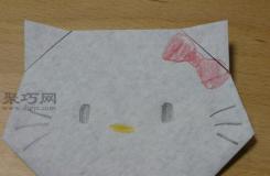 hello kitty折紙的折法 教你折紙凱蒂貓