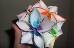 如何折花球:五瓣花球的折法圖解