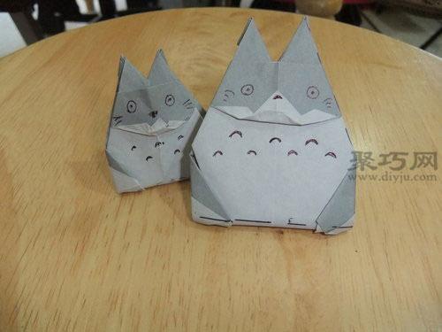 龍貓折法教你怎么折龍貓