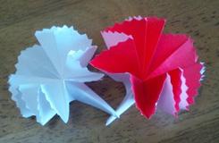 如何折康乃馨:简单康乃馨的折法图解
