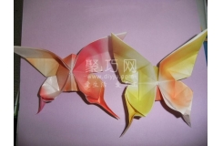折紙蝴蝶的方法 教你用紙怎么折漂亮的蝴蝶