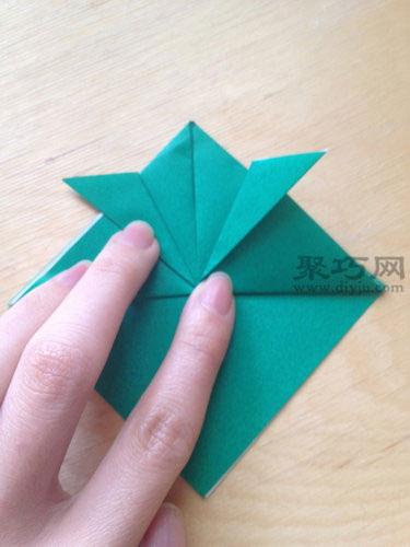 立体乌龟折纸步骤4