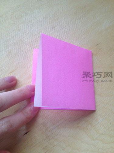 正方形纸手工折叠桃子