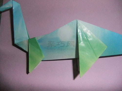 儿童折纸恐龙