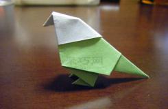 鸚鵡折紙圖解教程 教你怎么折紙鸚鵡