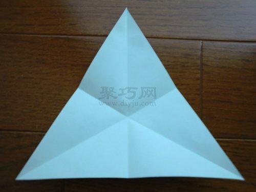 三角形纸风车的折法教程