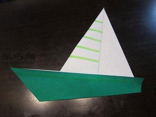 折纸小帆船的步骤图解