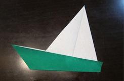折紙帆船的步驟圖解 簡單3步學折紙船