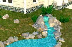 人造庭院瀑布景观怎么搭建 瀑布景观设计教程