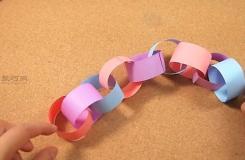 自制纸彩链教程 教你DIY漂亮的手工纸链花环
