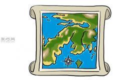手工绘制地图方法步骤 教你如何制作手绘地图