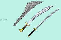 简笔画宝剑的画法 教你如何快速画一把剑