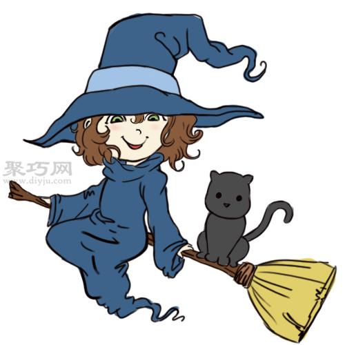 漫画卡通小魔女的画法 教你如何画小女巫 7 27