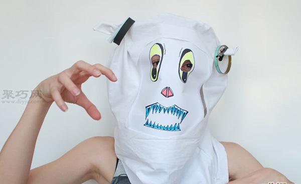 手工制作简单面具教程 废物利用DIY万圣节面具