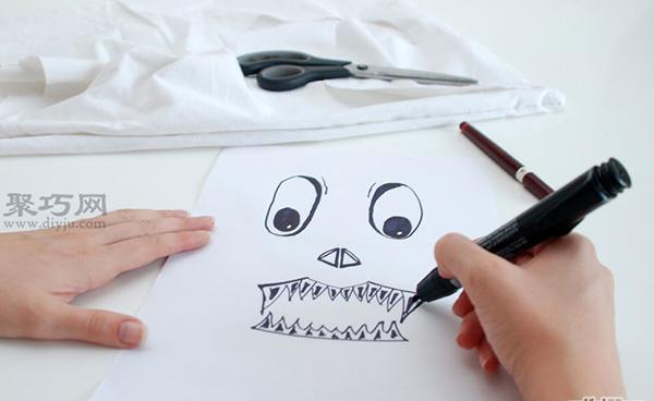 手工制作简单面具教程 废物利用DIY万圣节面具 2