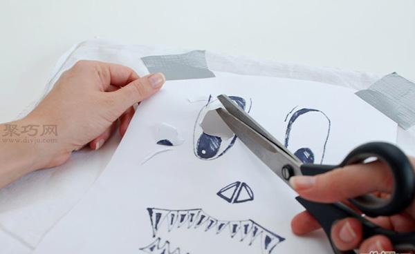 手工制作简单面具教程 废物利用DIY万圣节面具 4