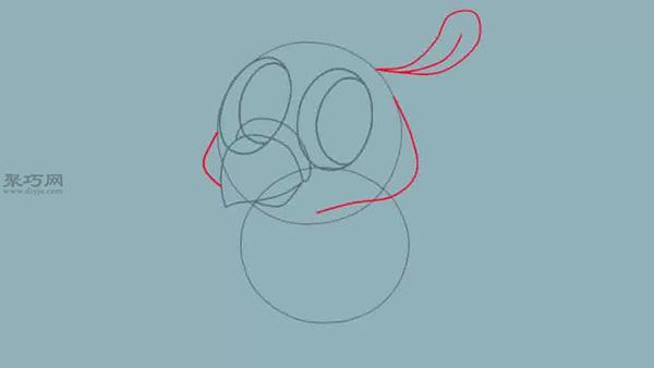 卡通小鸟的画法步骤