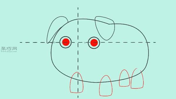 画可爱的卡通猪教程图解