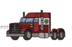 简笔画麦克货车的画法步骤 教你怎么画麦克货车