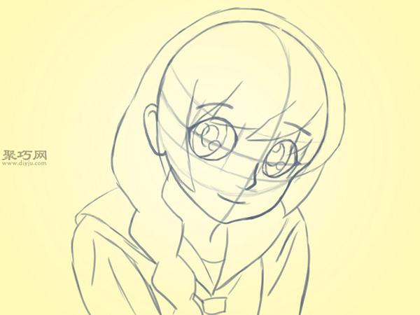 可爱的卡通女孩怎么画 4