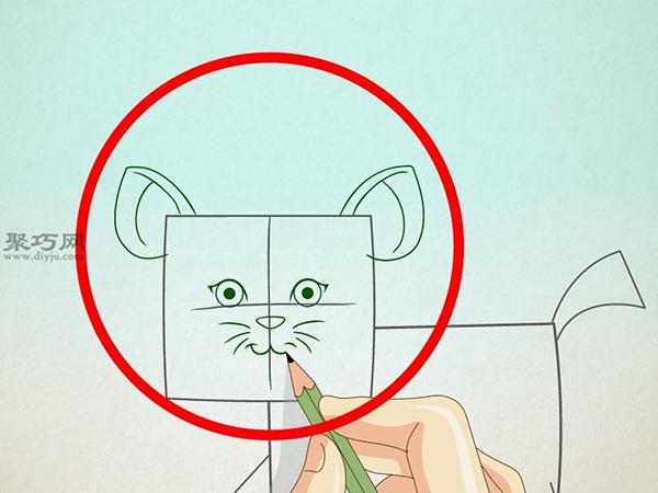 卡通老虎的画法步骤 4