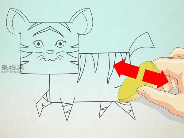 卡通老虎的画法步骤 6