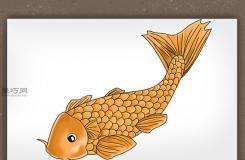 锦鲤简笔画怎么画 如何画一条逼真的锦鲤
