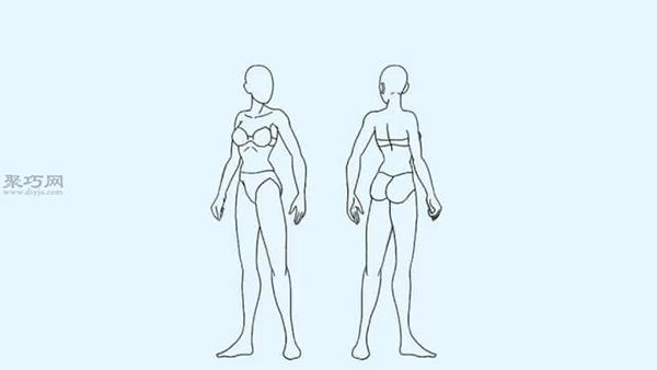 画女性身体的技巧