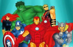 如何手绘漫画《复仇者联盟》英雄团队
