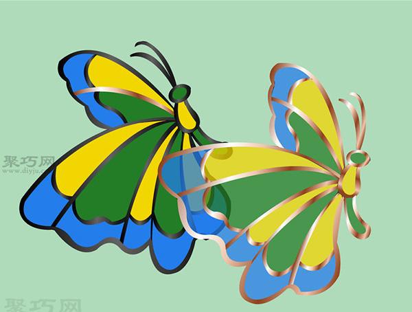 彩色玻璃蝴蝶手工制作教程 如何DIY彩色玻璃方法图解