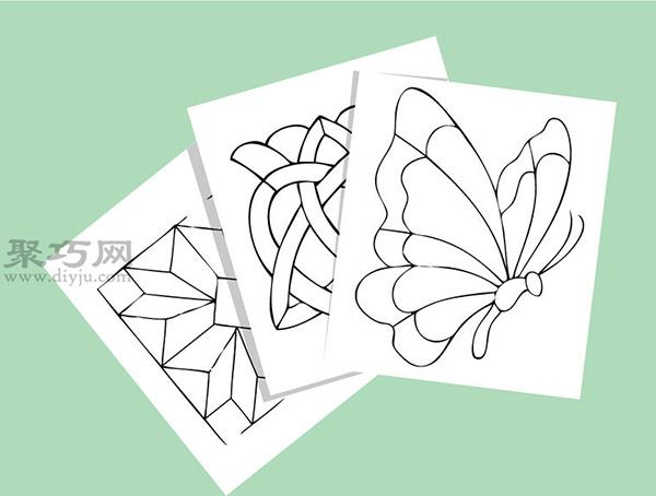 彩色玻璃蝴蝶手工制作教程 如何DIY彩色玻璃方法图解 2