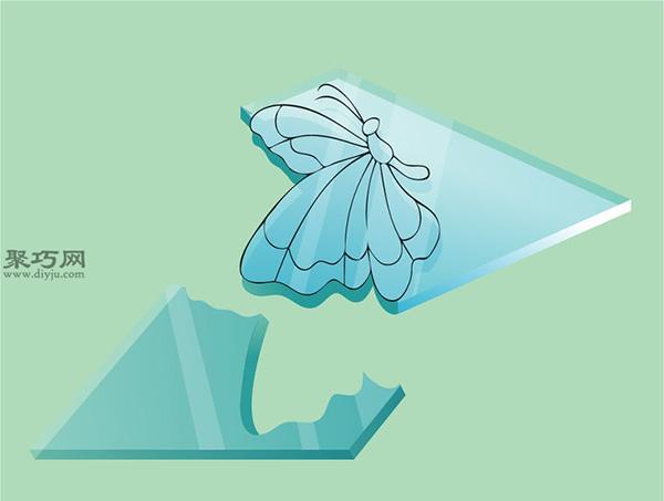彩色玻璃蝴蝶手工制作教程 如何DIY彩色玻璃方法图解 7