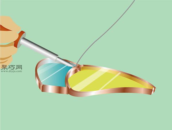 彩色玻璃蝴蝶手工制作教程 如何DIY彩色玻璃方法图解 9