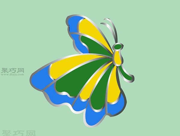 彩色玻璃蝴蝶手工制作教程 如何DIY彩色玻璃方法图解 10