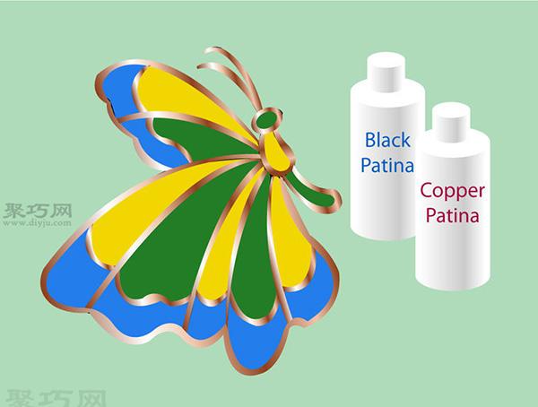 彩色玻璃蝴蝶手工制作教程 如何DIY彩色玻璃方法图解 11