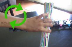 硬纸管变废为宝手工制作祈雨杖步骤图解