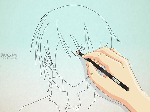 如何画男性漫画人物的正面脸 9