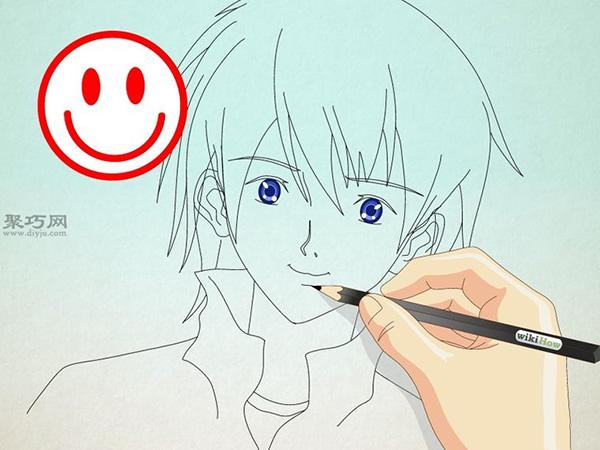 如何画男性漫画人物的正面脸 10