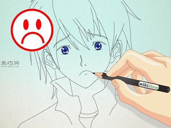 如何画男性漫画人物的正面脸 11