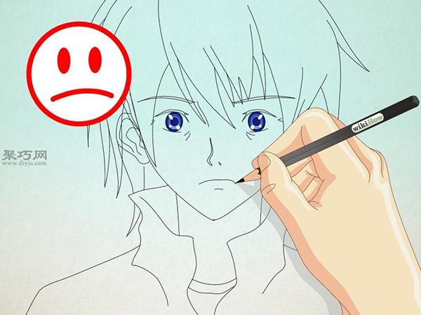 如何画男性漫画人物的正面脸 13