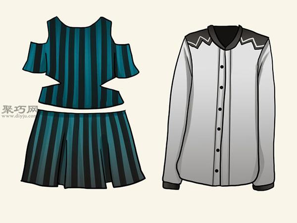 服装设计师总结的画时装草图详细步骤图解 15