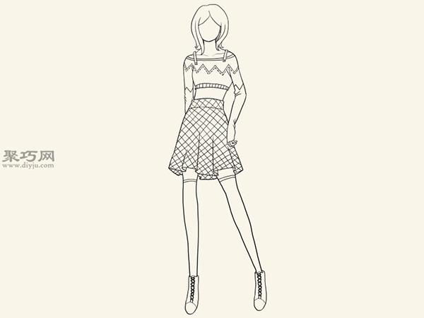 服装设计师总结的画时装草图详细步骤图解 10