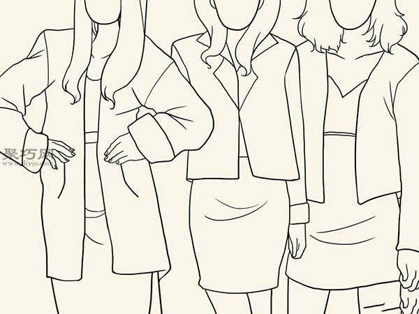 服装设计师总结的画时装草图详细步骤图解 11