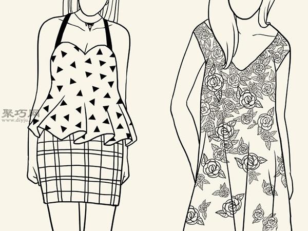 服装设计师总结的画时装草图详细步骤图解 13