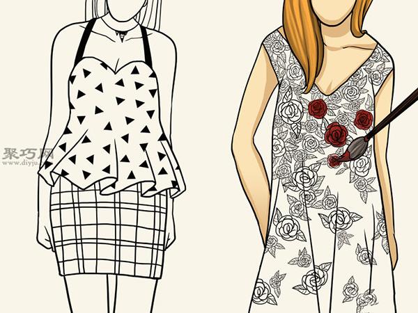 服装设计师总结的画时装草图详细步骤图解 14