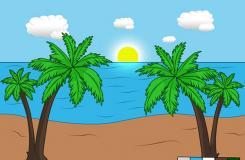 怎么画美丽的沙滩风景 如何画沙滩的风景画