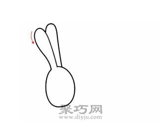 毛驴简笔画的画法步骤1